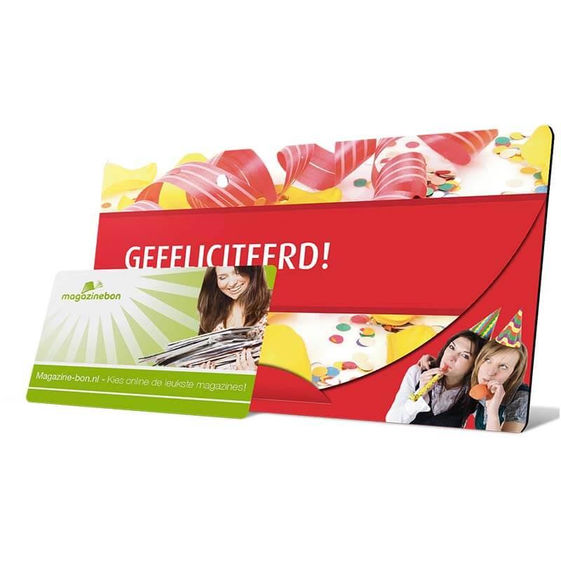 cadeau gefeliciteerd envelop